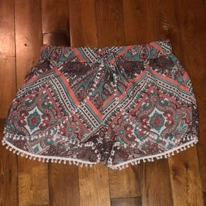 Bohemian style shorts